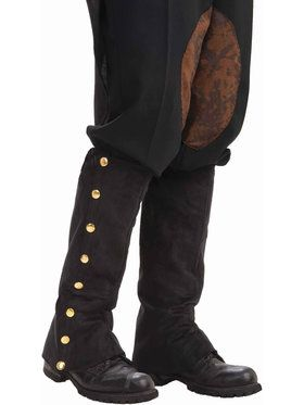 Steampunk Male Spats Black For Adults