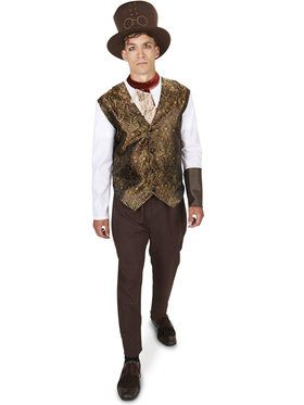 Steampunk Man with Neck Piece Adult Costume