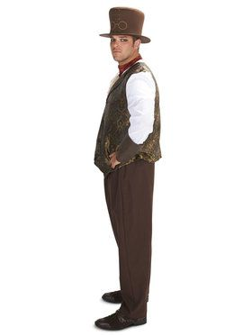 Steampunk Man with Neck Piece Adult Plus for Halloween