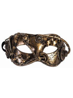 Steampunk Masks Eye Mask With Wires and Chain Gold Accessory