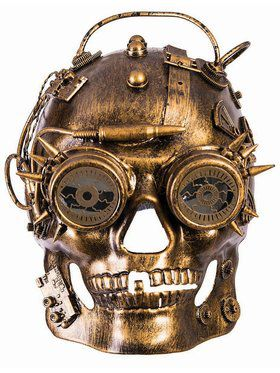 Steampunk Masks Skull Gold Accessory