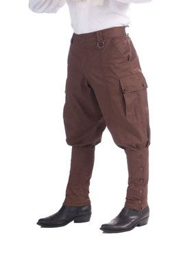 Adult Steampunk Pants Brown