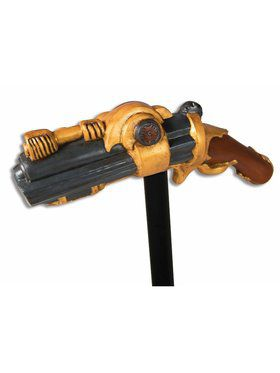 Pistol Top Steampunk Cane