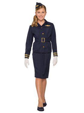 Stewardess Child Costume