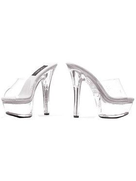 Stiletto Heel Glass Mule Slipper with Platform