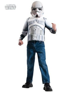 Storm Trooper Muscle Chest Shirt Set Boys Costume
