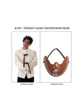 Adult Straight Jacket and Restraint Mask
