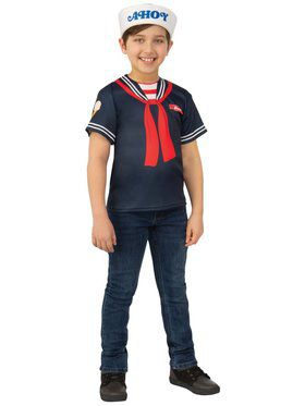 Stranger Things Steve's Scoops Ahoy Uniform Costume for Kids