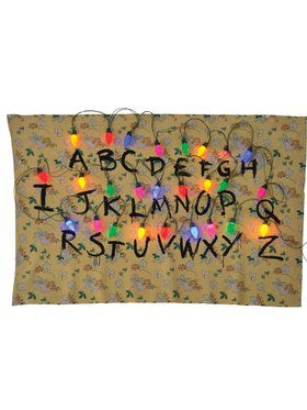 Stranger Things Alphabet Tapestry with Lights Hanging Decoration