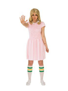 Adult Stranger Things Short Sleeves Eleven Dress