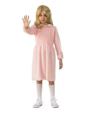 Kid's Stranger Things Eleven Dress Costume