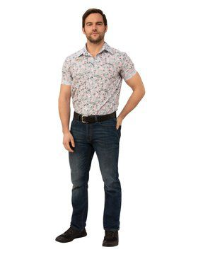 Stranger Things 3 Jim Hoppers Hawaiian Look Outfit Costume for Adults