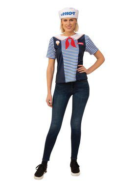 Adult Robin's Scoops Ahoy Uniform Costume - Stranger Things