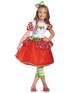 strawberry shortcake deluxe costume for toddlers - Clifford The Big Red Dog Halloween Costume