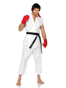 Street Fighter Ryu Men's Costume