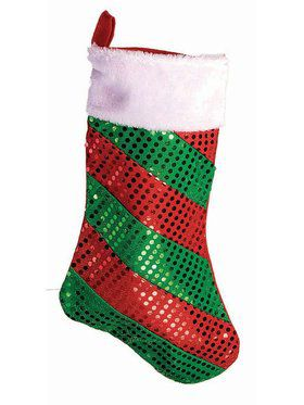 Striped Foil Dot Christmas Stocking Decoration