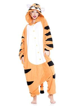 Striped Tiger Kigurumi Adult Costume