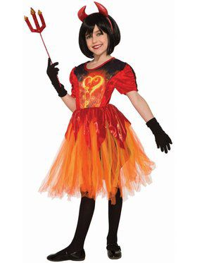 Sublimation Devil Little Flame Costume