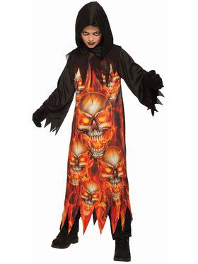 Sublimation Fire Reaper Child Costume