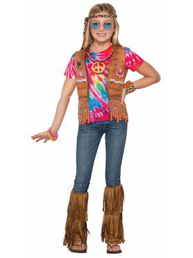 Sublimation Hippie Shirt Girl's Costume
