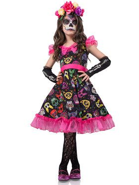 Sugar Skull Sweetie Girl's Costume