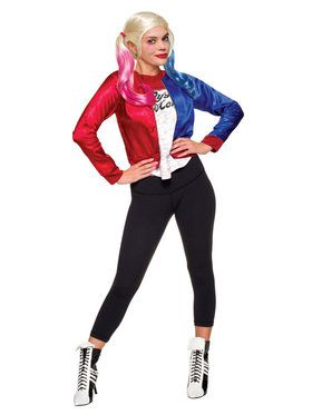 suicide squad harley quinn costume kit for teens - Popular Tween Halloween Costumes