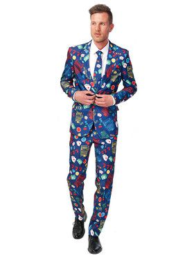 Men's Suitmeister Casino Slot Machine Suit and Tie