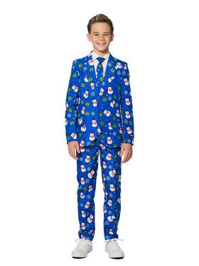 Boy's Blue Snowman Holiday Suitmeister Set