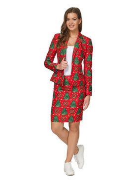 Suitmeister Christmas Green Tree Womens Suit