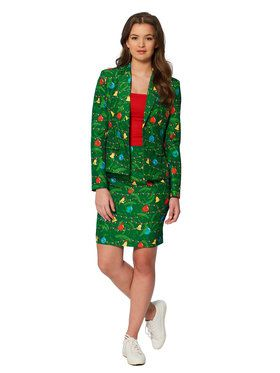 Suitmeister Christmas Trees Womens Suit