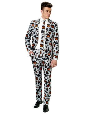 Men's Suitmeister Halloween Grey Icon Suit and Tie