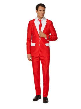 Suitmeister - Suit And Tie Set - Happy Holiday Red And White Santa Design