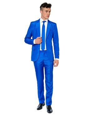 Suitmeister - Suit And Tie Set - Solid Blue
