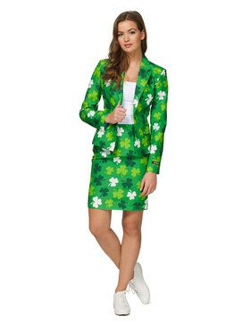 Suitmeister St. Patricks Day Clovers Womens Suit