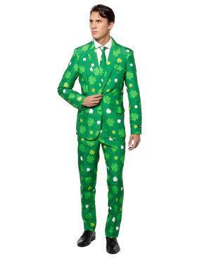 Suitmeister - Suit And Tie Set - St. Patricks Day Green Shamrock Pattern