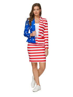 Suitmeister USA Flag Womens Suit for Halloween