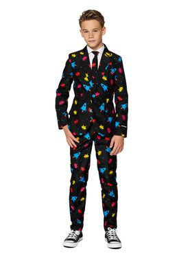 Suitmeister Videogame Boys Suit and Tie for Halloween