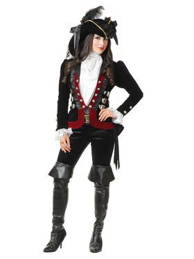 Women's Black Sultry Pirate Lady Jacket