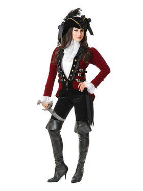 Women's Red Sultry Pirate Lady Jacket