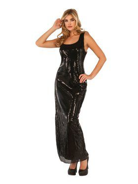 Sultry Black Sequin Women's Dress