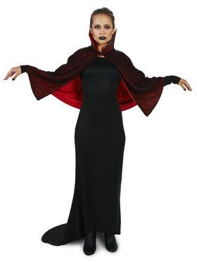 Sultry Vampire Dress with Capelet Adult for Halloween