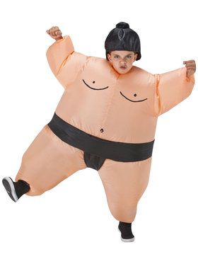 Sumo Wrestler Inflatable Costume For Children