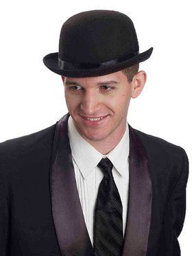 Super Deluxe Bowler Hat Wool Adult