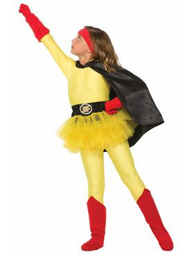 Children's Super Hero Cape in Black