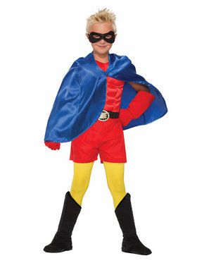 Super Hero Cape Blue Boy's Costume