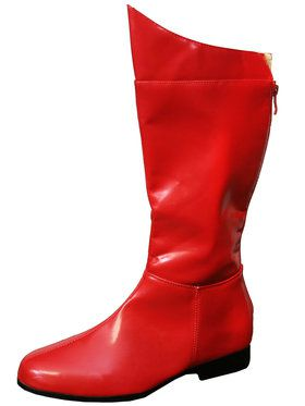 Super Hero Adult Red Boots