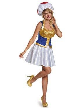 Adult Womens Toad Super Mario Bros Costume