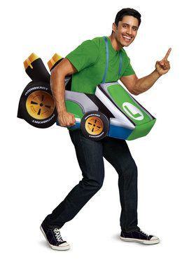 Super Mario Bros. Luigi Kart Costume for Adults