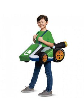 Super Mario Brothers Child Luigi Kart Costume