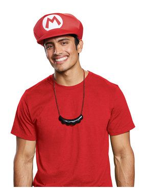 Mario Hat Moustache Super Bros
